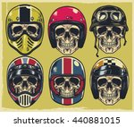 set of hand drawing skulls... | Shutterstock .eps vector #440881015