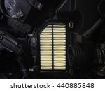 focus of new air filter car... | Shutterstock . vector #440885848
