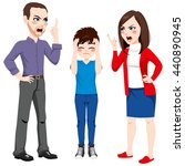 father and mother arguing and... | Shutterstock .eps vector #440890945