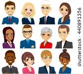 set of business people avatar... | Shutterstock .eps vector #440891356
