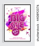 sale flyer  60  off for limited ... | Shutterstock .eps vector #440892076