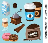 colorful coffee vector icons... | Shutterstock .eps vector #440895388