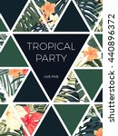 bright hawaiian design with... | Shutterstock .eps vector #440896372