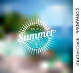 illustration on a summer... | Shutterstock . vector #440896852