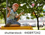 adorable boy portrait in the... | Shutterstock . vector #440897242