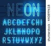 vector set of realistic neon... | Shutterstock .eps vector #440899618