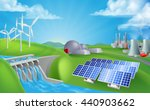 energy or power generation... | Shutterstock . vector #440903662