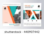 layout design template  annual... | Shutterstock .eps vector #440907442