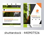 layout design template  annual... | Shutterstock .eps vector #440907526