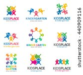kindergarten and kids logo... | Shutterstock .eps vector #440909116