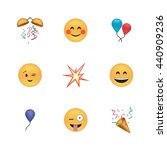 set of funny emoticon vector... | Shutterstock .eps vector #440909236