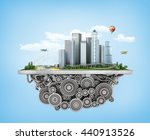 concept of city. city with... | Shutterstock . vector #440913526