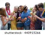 group of friends wearing a... | Shutterstock . vector #440915266