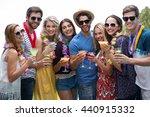 group of friends wearing a... | Shutterstock . vector #440915332