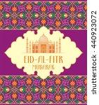 eid al fitr  greeting card  ... | Shutterstock .eps vector #440923072