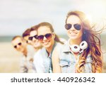 summer holidays and teenage... | Shutterstock . vector #440926342