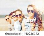 summer holidays and teenage... | Shutterstock . vector #440926342