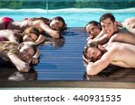 group of happy friends on... | Shutterstock . vector #440931535