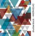 geometric triangle pattern ... | Shutterstock .eps vector #440943142