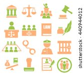 attorney  court  law icon set | Shutterstock .eps vector #440944012