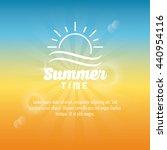 summer design. sun  icon.... | Shutterstock .eps vector #440954116