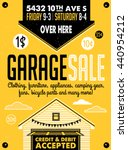 garage or yard sale with signs  ... | Shutterstock .eps vector #440954212
