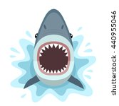 Vector Illustration Of Shark...