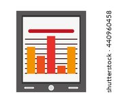 tablet with bar graph   vector... | Shutterstock .eps vector #440960458