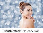 asian beauty face  closeup... | Shutterstock . vector #440977762