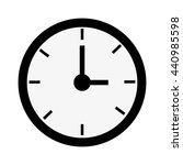 black round clock   vector... | Shutterstock .eps vector #440985598