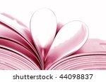 pages of book curved into a...   Shutterstock . vector #44098837