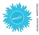 music. sound circular waves.... | Shutterstock .eps vector #440991502