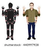for animation. man character in ... | Shutterstock .eps vector #440997928