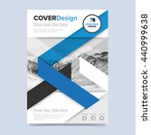 blue cover design annual report ... | Shutterstock .eps vector #440999638
