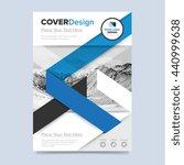 blue cover design annual report ... | Shutterstock .eps vector #440999638