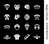 set icons of parachute   Shutterstock .eps vector #441017896