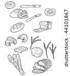 vector doodles of bread and... | Shutterstock .eps vector #44101867