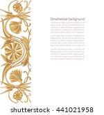 vector illustration of floral... | Shutterstock .eps vector #441021958