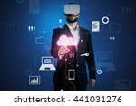 man in business suit and vr... | Shutterstock . vector #441031276