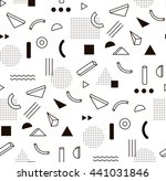 raster image pattern with black ... | Shutterstock . vector #441031846