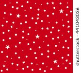 star polka dot red background