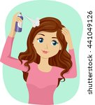 illustration of a teenage girl... | Shutterstock .eps vector #441049126