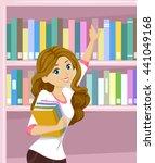 Illustration Of A Teenage Girl...
