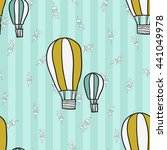welcome baby boy decorative... | Shutterstock .eps vector #441049978