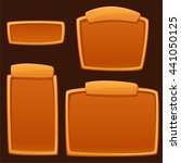set of cartoon empty boards for ...   Shutterstock .eps vector #441050125