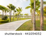 landscape with jogging track at ... | Shutterstock . vector #441054052