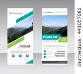 green business roll up banner... | Shutterstock .eps vector #441057082