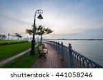 beautiful sunrise over the...   Shutterstock . vector #441058246