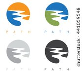 abstract path or river labels... | Shutterstock .eps vector #441059548