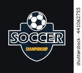 soccer badge | Shutterstock .eps vector #441062755